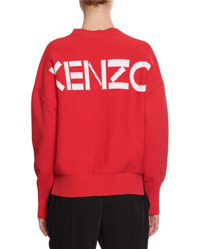 Crewneck Logo Pullover Sweatshirt