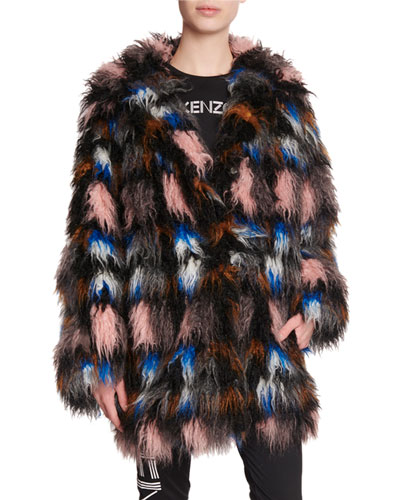 f912b9ef22 Quick Look. Kenzo · Shaggy Snap-Front Faux Fur Coat