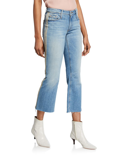 bc8667a3e7 Quick Look. Black Orchid · Chrissy Kick Flare Racer Stripe Jeans