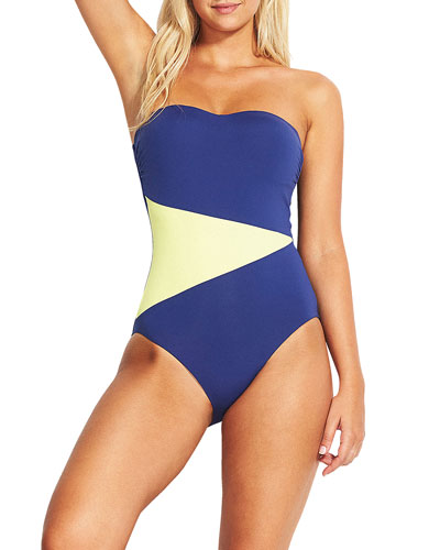 Bandeau Maillot One-Piece Swimsuit - DD Cup