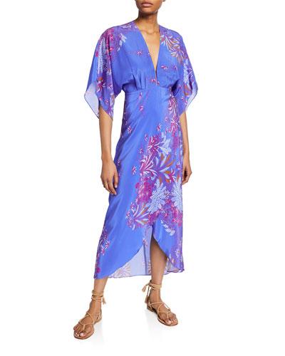 Katherine Printed V-Neck Dress