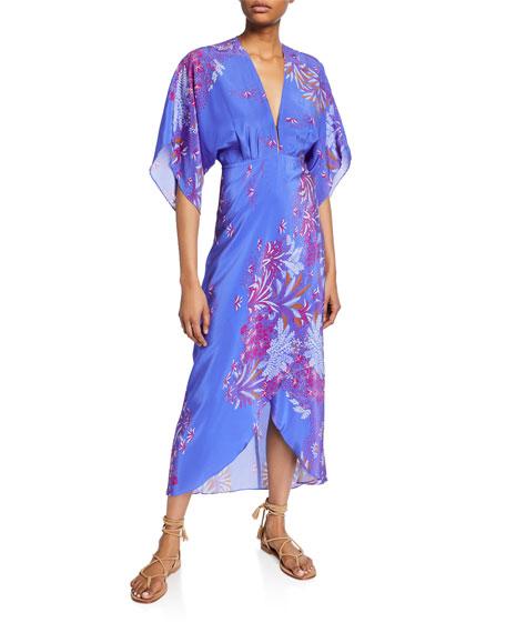 Jaline Katherine Printed V-Neck Dress