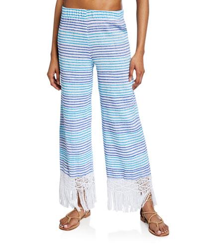 Tallulah Hand-Woven Macrame Striped Pants
