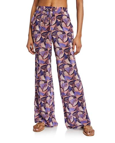 Lisa Printed Drawstring Lounge Pants