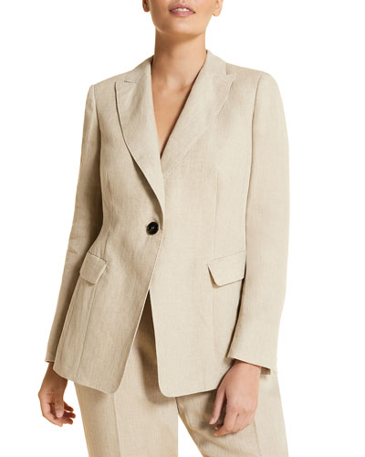 Plus Size Castano One-Button Cutaway Jacket