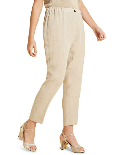 Plus Size Rende Capri Pants
