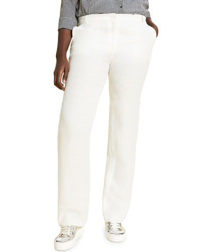 Plus Size Rigoli Straight-Leg Pants