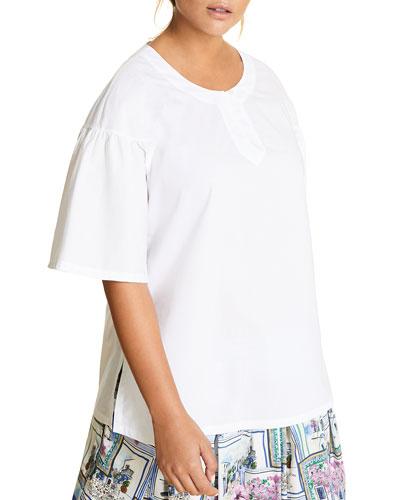 Plus Size Becher Short-Sleeve Cotton Top