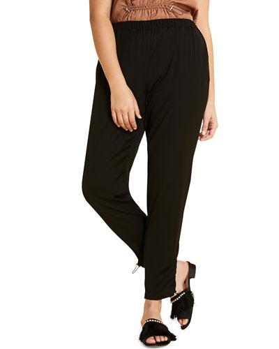 Plus Size Ribalta High-Rise Pull-On Ankle Pants