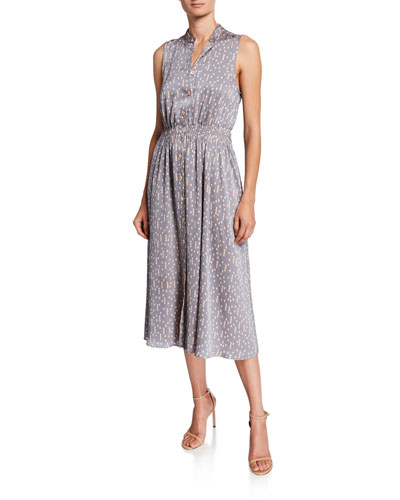 2704a02b Printed Banded Dress | Neiman Marcus