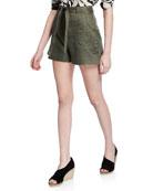 Equipment Taimee Linen Shorts with Sash Belt