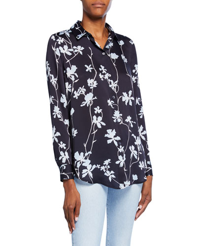 Essential Floral Button-Down Shirt