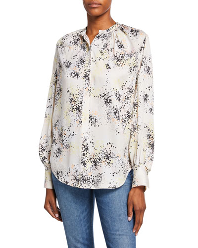 Causette Printed Silk Blouse