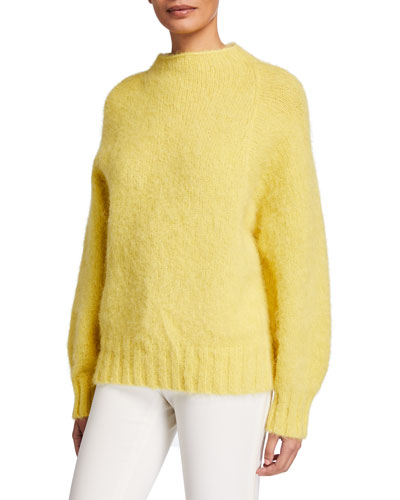 Souxanne Mock-Neck Wool Sweater