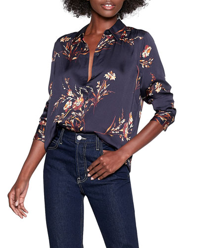 Essential Floral Button-Down Shirt