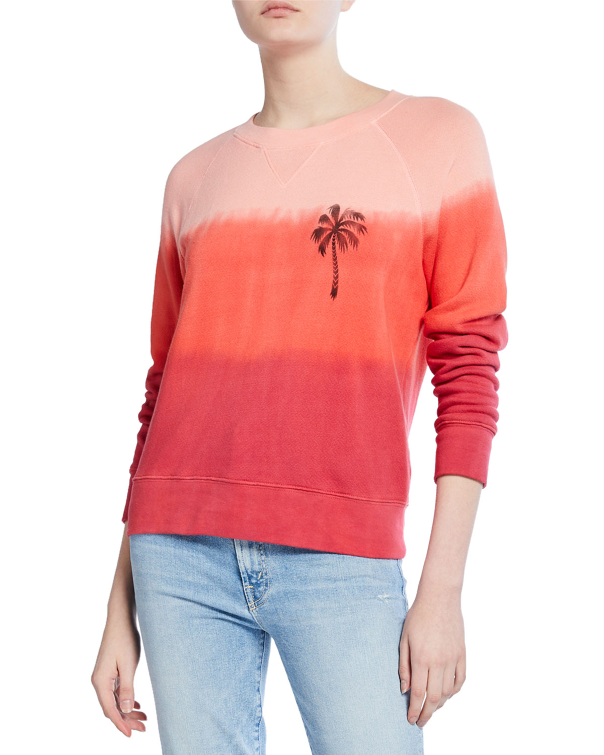 Mother T-shirts THE SQUARE OMBRE RAGLAN-SLEEVE SWEATSHIRT