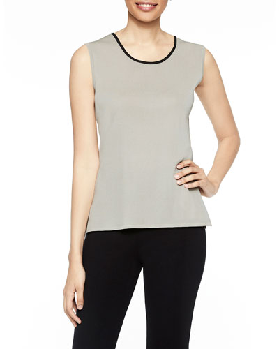 Scoop-Neck Tank with Contrast Trim