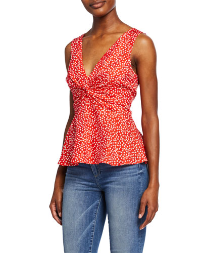 Malia Sleeveless Ditsy Floral Top