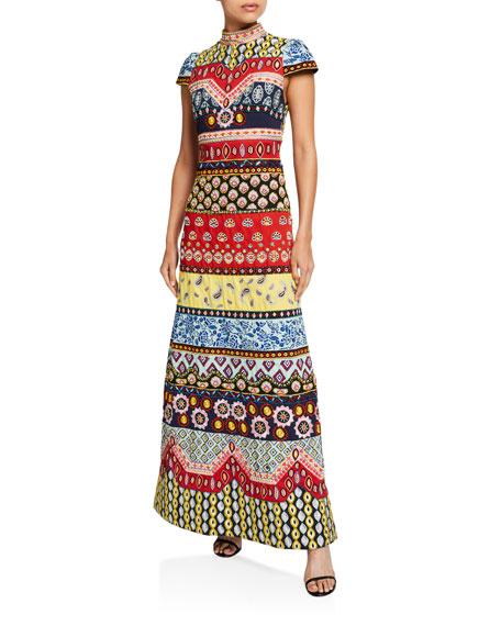 Alice + Olivia Arwen Embellished A-Line Gown