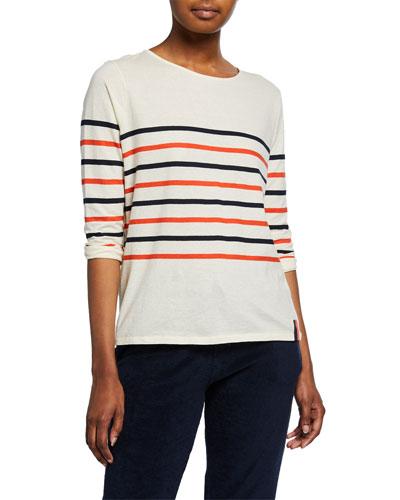 The Malibu Striped Cotton T-Shirt