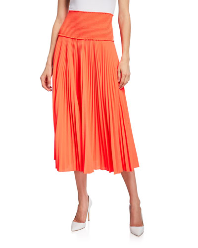 285b32f04d Quick Look. A.L.C. · Hedrin Smocked Pleated Midi Skirt