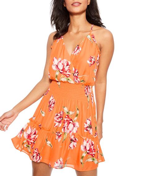 Parker Fabianna Floral-Print Short Dress