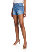 L'Agence Ryland High-Rise Side-Zip Shorts