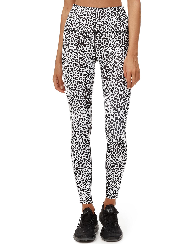 Leopard-Print Active Leggings
