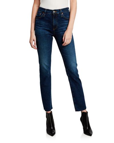 Mari High-Rise Slim-Leg Jeans