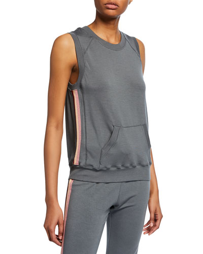 Sleeveless Pullover with Side Taping