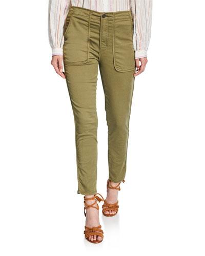 Andira Patch-Pocket Skinny Pants
