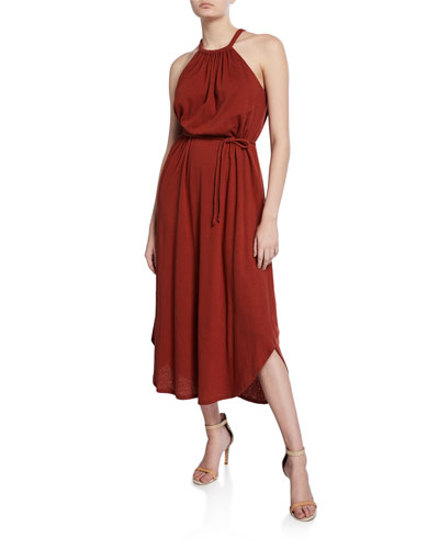 Meribah High-Low Halter Dress