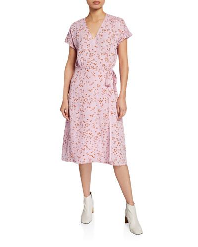 Bethwyn D Floral Short-Sleeve Wrap Dress