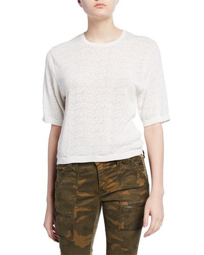Brikly Knit Short-Sleeve Top