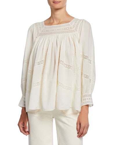 The Desert Top with Lace Insets