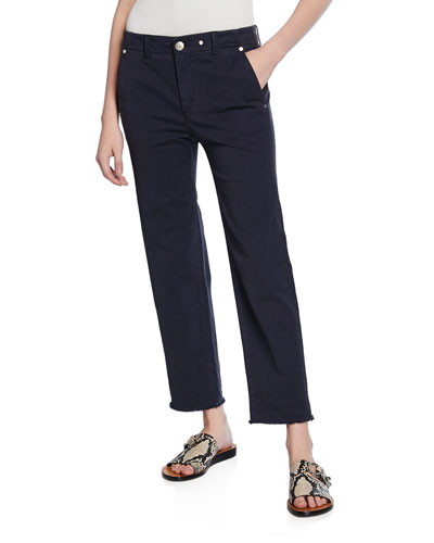 Buckley Cropped Mid-Rise Chinos