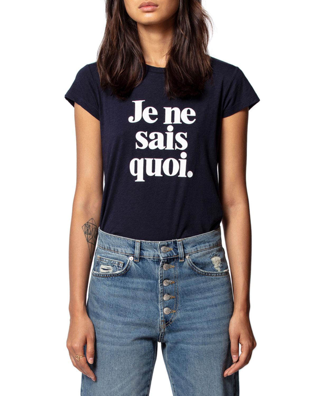 Zadig & Voltaire T-shirts SKINNY JE NE SAIS QUOI PRINTED T-SHIRT