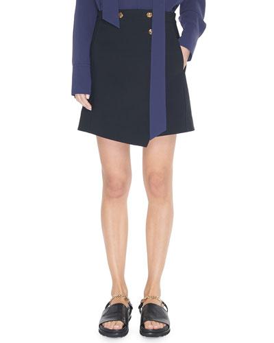 Anson Stretch A-Line Mini Skirt