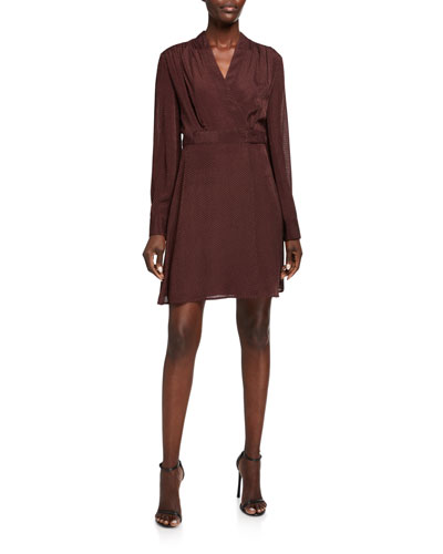 Allaire Long-Sleeve Wrap Dress