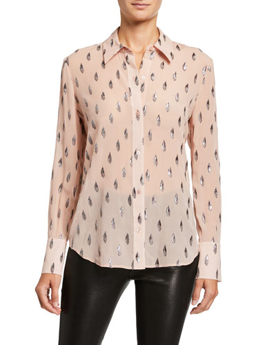 Sedienne Printed Long-Sleeve Button-Down Shirt