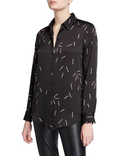 Essential Matchstick Button-Down Shirt