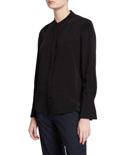 Jecinthe Long-Sleeve Button-Down Shirt