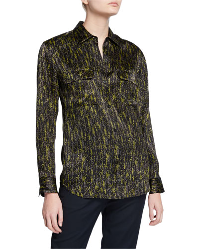 Essential Printed Button-Down Shirt