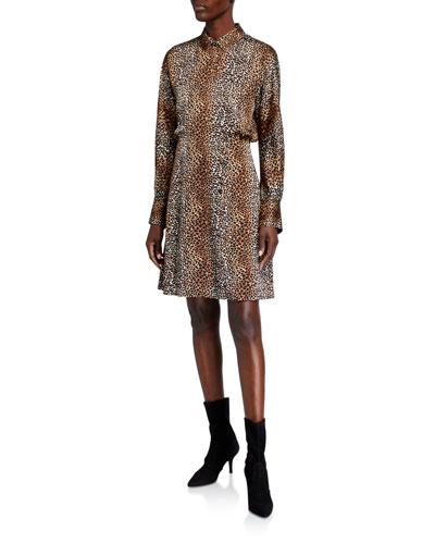 Harmon Printed Long-Sleeve Wrap Dress
