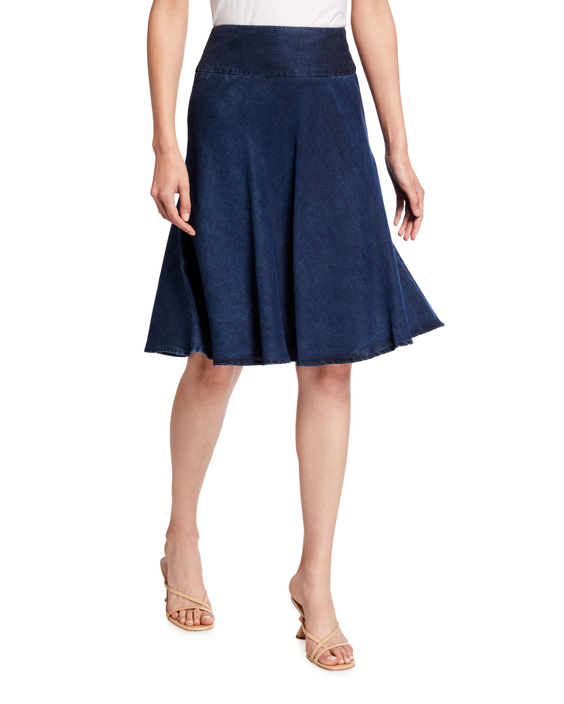 Nic+zoe Skirts SUMMER FLING A-LINE DENIM SKIRT