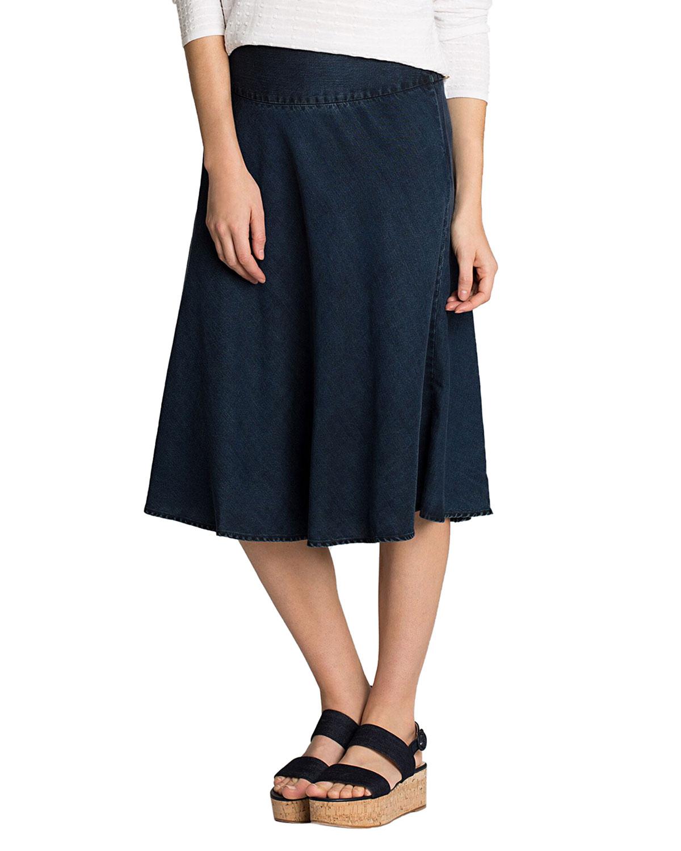 Nic+zoe Skirts PETITE SUMMER FLING A-LINE DENIM SKIRT