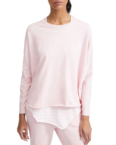 Oversized Continuous Long-Sleeve Sweatshirt