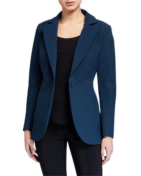 Chiara Boni La Petite Robe Lua One-Button Solid Blazer