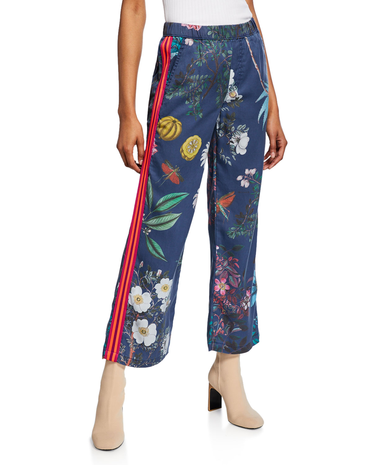 Mother Pants THE QUICKIE GREASER ANKLE PRINTED PANTS