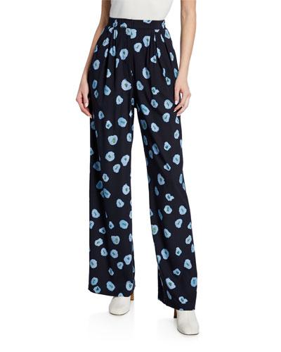 Puada Printed High-Rise Pants